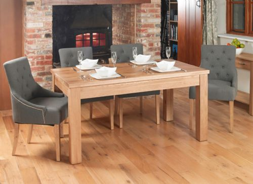 Mobel Oak Extendable Dining Table